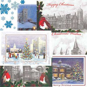 Traditional Greeting Christmas Cards