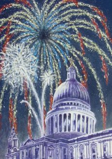 Large personalised St. Paul's Christmas Card