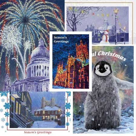 Personalised Christmas Cards | Rochester, Canterbury & St Pauls Cathedral Xmas Cards